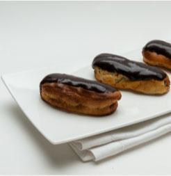 éclair au chocolat sans gluten ni lait